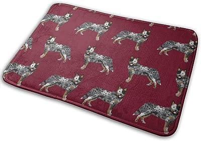 """Australian Cattle Dog Simple Ruby_23014 Doormat Entrance Mat Floor Mat Rug Indoor/Outdoor/Front Door/Bathroom Mats Rubber Non Slip 23.6"""" X 15.8"""""""