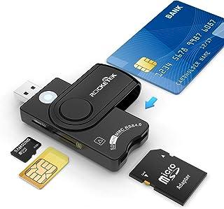 Rocketek USB接触型ICカードリーダー・ライター SDHC/SDXC/SD/SIM/MMC RS&4.0多機能スマートカードリーダー e-Tax(イータックス)での確定申告や住基カード&マイナンバーカード対応(Windows、Linu...