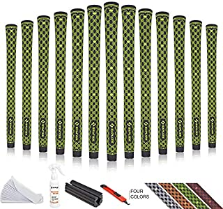 SAPLIZE CC04 Golf Grips Standard/Mid Size, Grips + Tapes, Solvent, Hook Blade,Vise Clamp, 4 Colors for Choice, Rubber Golf Club Grips2019 Golf Grips Kit