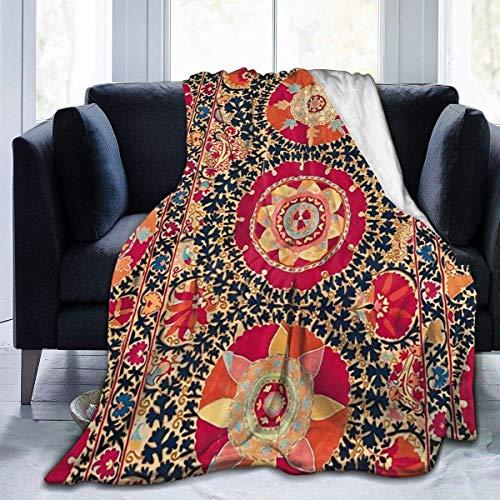 maichengxuan Manta de sofá supersuave Kermina Suzani de microforro polar, adecuada para mantas de sofá para adultos y niños, mantas de cama de 203 x 60 cm