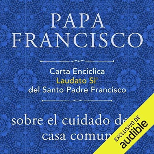 Diseño de la portada del título Carta Enciclica Laudato Si' del Santo Padre Francisco sobre el cuidado de la casa comun
