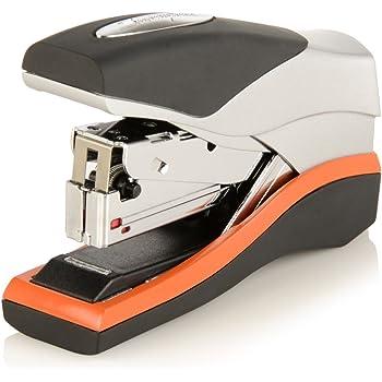 Swingline Stapler, Half Strip Desktop Stapler, 40 Sheet Capacity, Low Force, Compact Size, Office, Desk, Optima 40, Orange/Silver/Black, 1 Count (87842)