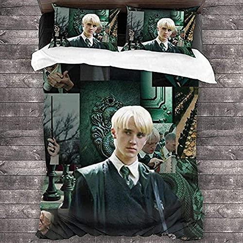 Draco Malfoy beddengoedset, Draco Malfoy dekbedovertrekset, super zacht en comfortabel, geschikt voor alle seizoenen…