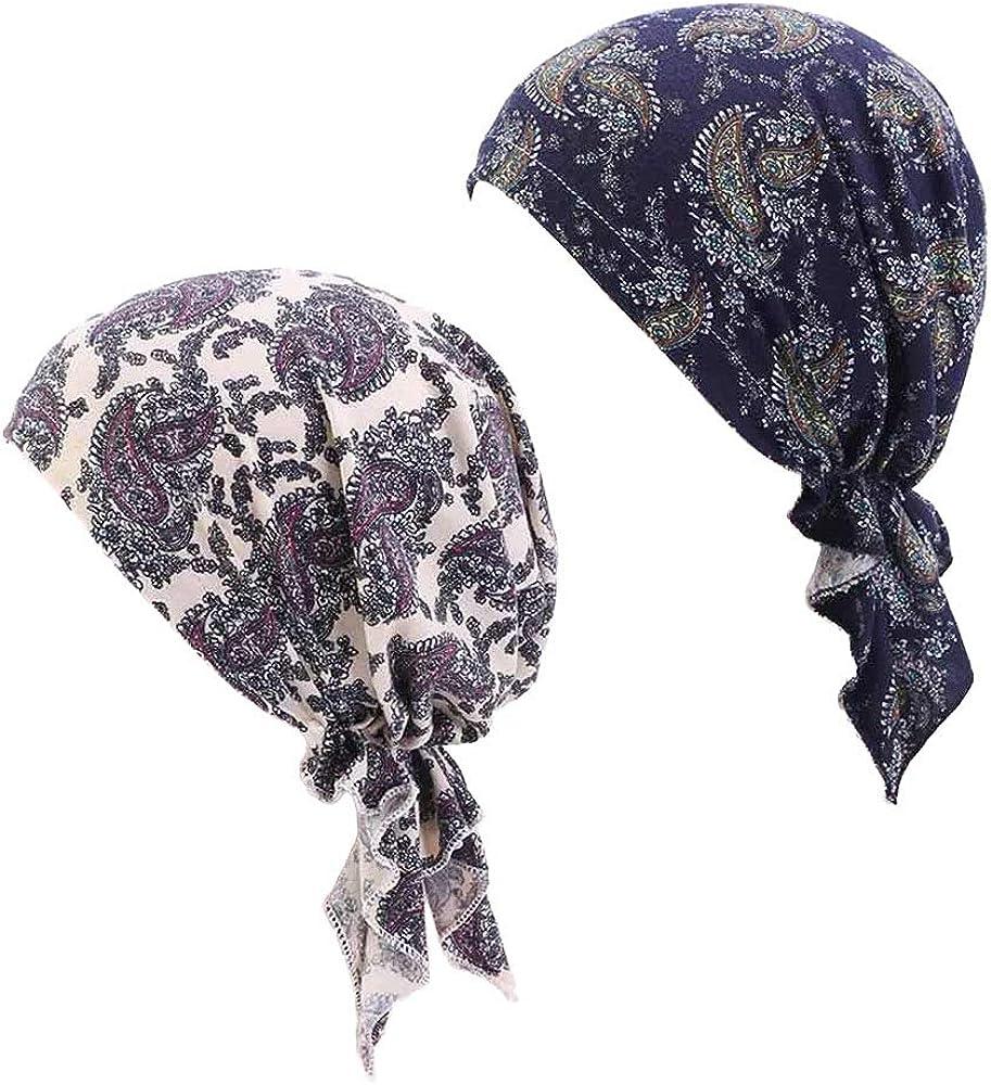 Chemo Head Scarf Head Wrap Headwear Beanie Skull Cover Cap Hair Loss Hat for Women