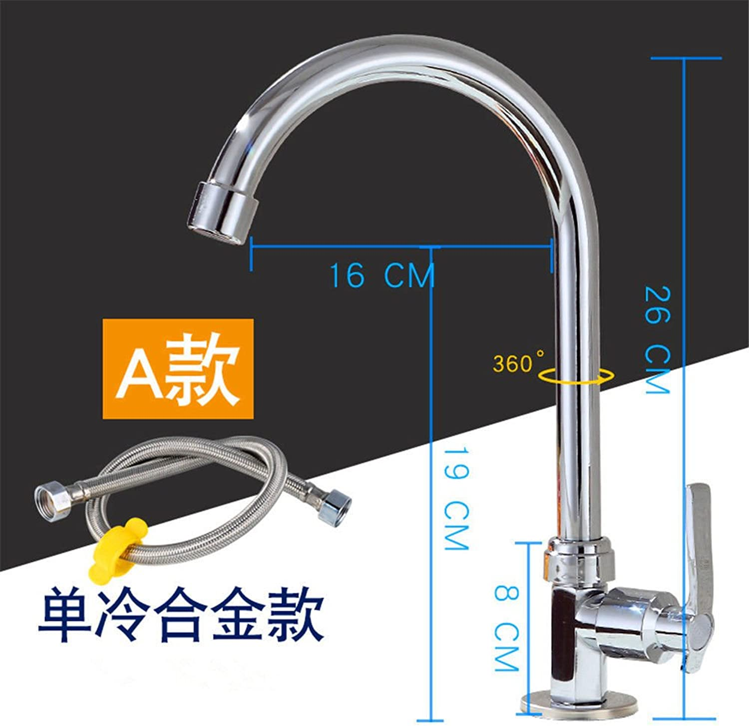 Gyps Faucet Basin Mixer Tap Waterfall Faucet Antique Bathroom The Kitchen dish washing basin of cold water faucet brass body-wide single cold kitchen stainless steel sink laundry pool basin mixer