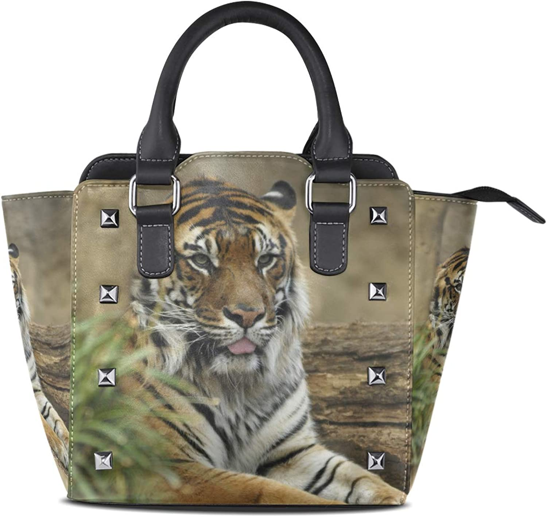 Women's Handbags Tiger Resting Tote