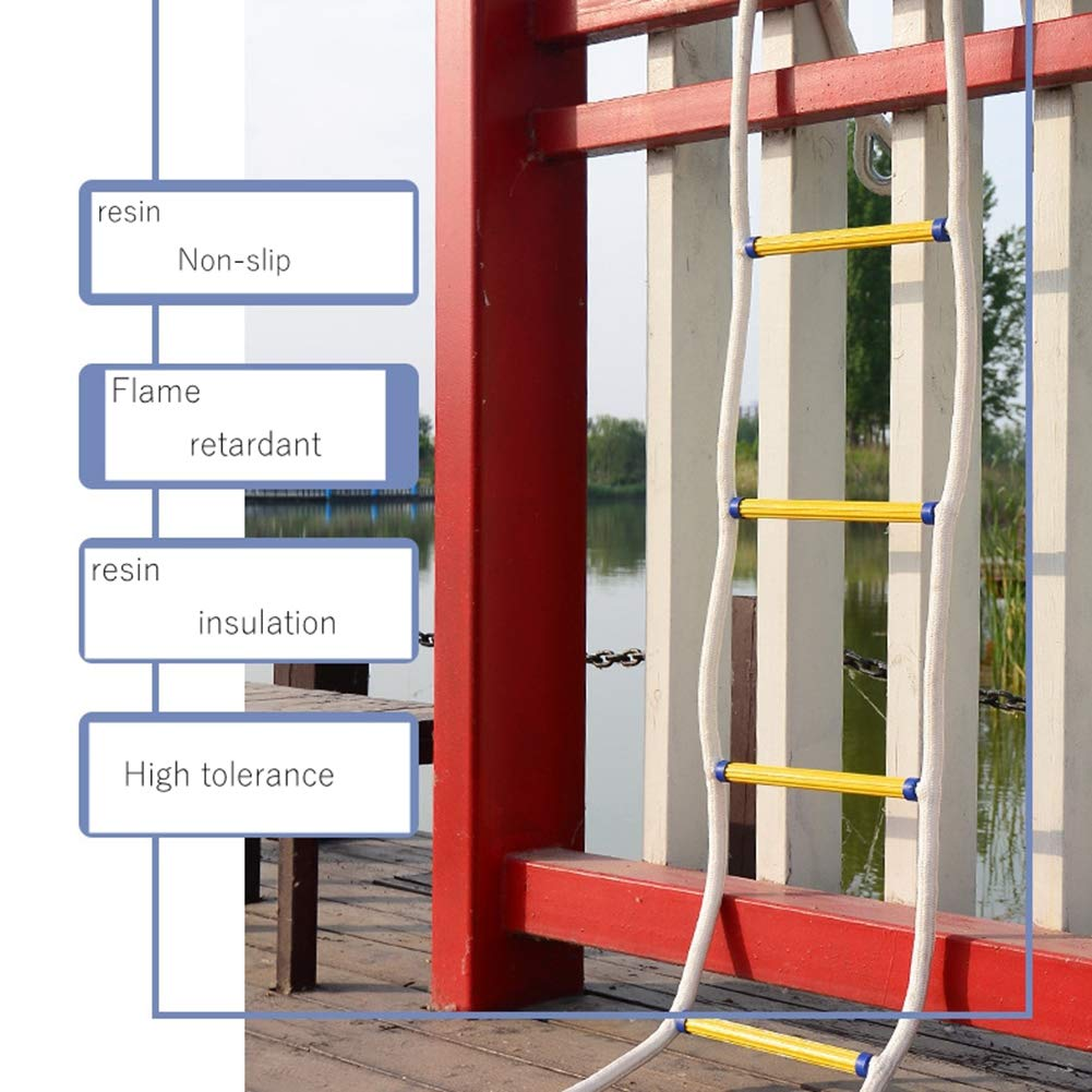 Escalera De Fuego Suave, Escalera De Cuerda - Escalera De Evacuación De Seguridad Resistente A Las Llamas con Escalera De Rescate De 2 Ganchos para Adultos: Amazon.es: Jardín