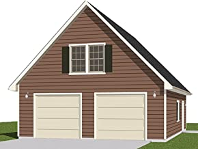 Garage Plans: Two Car Garage With Loft - Plan 1476-3