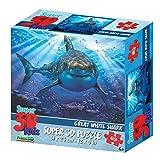 Howard Robinson Hr13582Animaux 63pièces Super Puzzle 3D pour Enfant–Requin Blanc