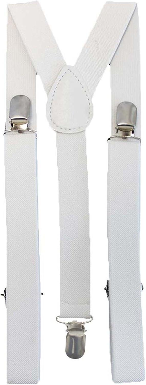 Novelty Print Clip On Elastic Suspenders