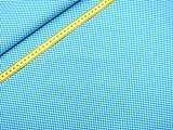 0,5m Vichy-Karo klein 3mm Stoff türkis/ weiß