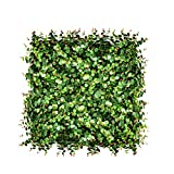 FLORALEAF Artificial Boxwood Panels Topiary Hedge Plant UV Protected Privacy Ivy Screen Faux Greenery Wall