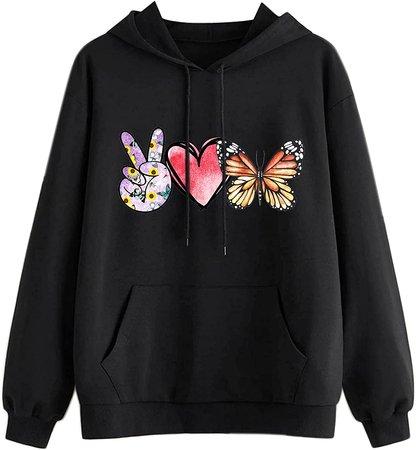 Sunflower Graphic Sweatshirts for Women Fashion Crewneck Loose Fit Casual Long Sleeve Cute Pullover Sweaters