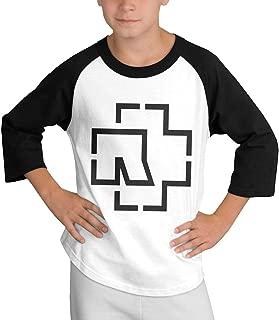 Cotton Round Neck T Shirts Funny Ram-ms-tein Band Till Half Raglan Sleeve Black Tee Unisex S