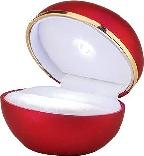 "LED Red Creative Diamond Ring Gift Box High-Grade Paint LED Light Ring Box Egg Box 3.54""x2.36"""