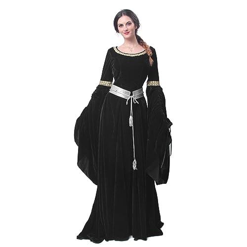 ad5dff621b4 Nuoqi Medieval Renaissance Costume Victorian Queen Women Vintage Retro Princess  Dress