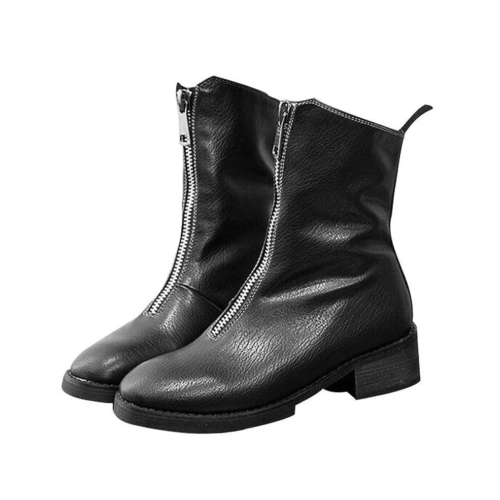 略奪反発する雲MARIAH(マリア)ブーツ レディース 厚底 太いヒール マルティンブーツ 長靴 防寒