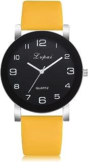 P383 LVPAI Women's Quartz Watch, Women's Casual Quartz Leather Band Watch Analog Wrist Watch