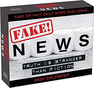 Fake! News 2020 Calendar: Truth is Stranger Than Fiction Fake or Fact Daily News Challenge