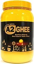 Natural Vedic A2 Ghee - 33.81oz Swaarnim Jains' A2 Brahma Muhurta Ghee 1000ml - Probiotic Properties - 0% Trans Fat - Grass-Fed - Non-GMO - Gir Cow A2 Ghee - Pure & Purifying …