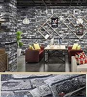 ウォールステッカーステッカー壁紙 ヴィンテージ3Dレンガの壁紙PVC文化ストーン装飾フィルム自己接着リビングルームのテレビの背景防水ウォールステッカー (Color : 7022, Dimensions : 5m x 40cm)