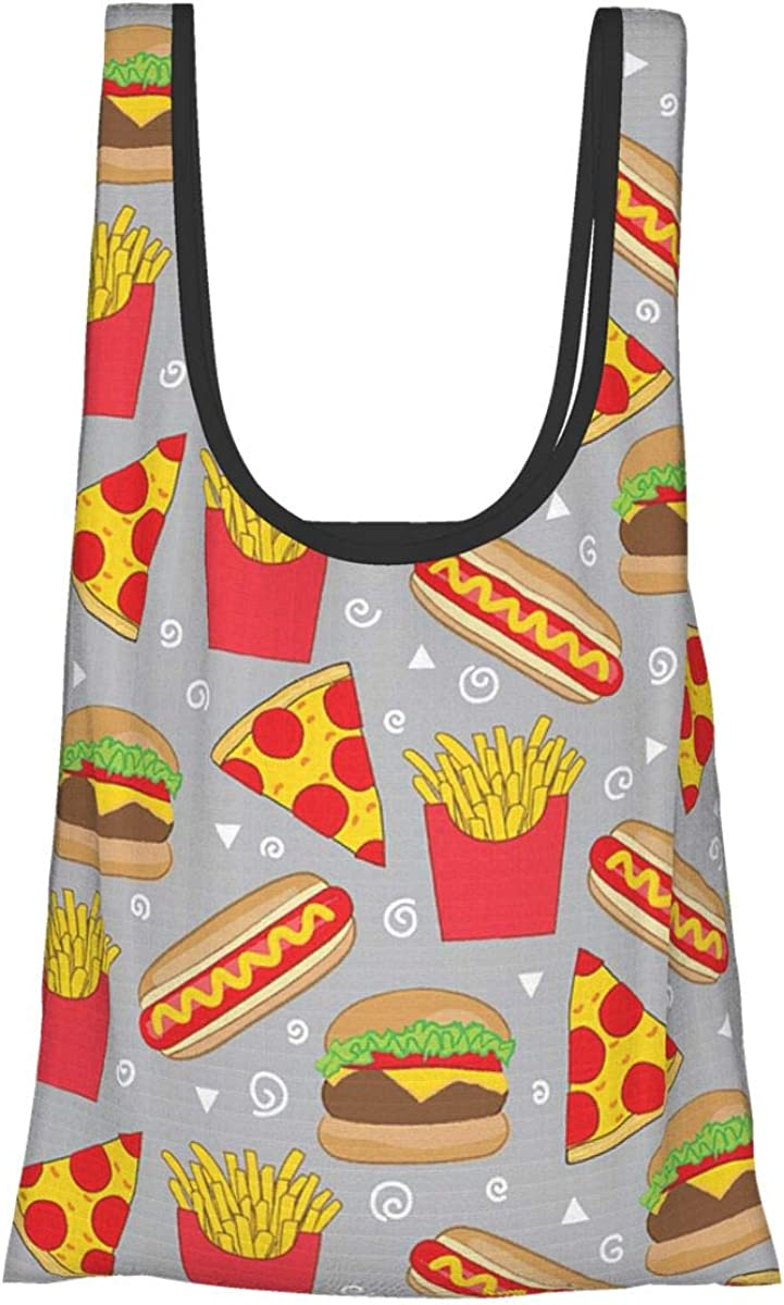Pizza Food French Fries Hamburger Pizza Themed Printed Women Can