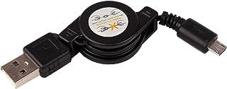 DURAGADGET Cable MicroUSB Retráctil para Altavoz Inalámbrico VicTsing inalámbricos 4.0/Simpeak/AOMAIS IPX7/aomais Portable...