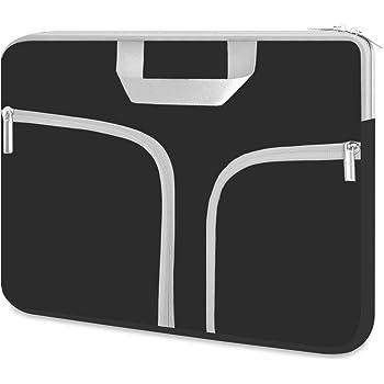 Chromebook Case, HESTECH 11.6-12.5 Inch Neoprene Laptop Sleeve Travel Bag with Handle Compatible for Acer Chromebook r11/HP Stream/Samsung Chromebook/MacBook air 11/, Black