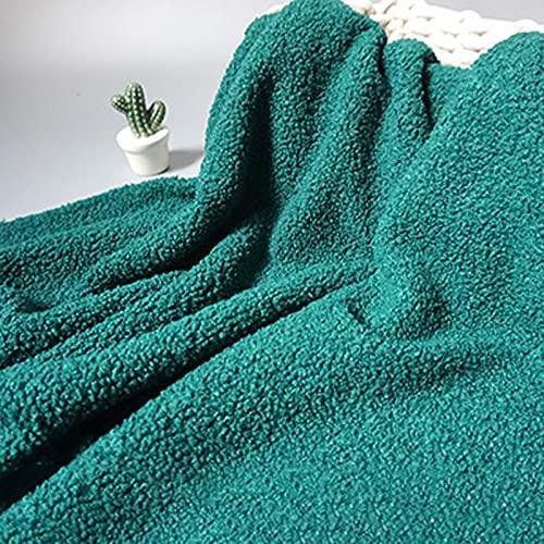 XiaoLong Verde Tela de Peluche Minky 160cm de Ancho Se Utiliza para Coser Bricolaje Fiestas Decoraciones Navideñas Ropa Deportiva Tapicería y de Moda para el Hogar Vendido por 1m(Size:1.6 * 1m)