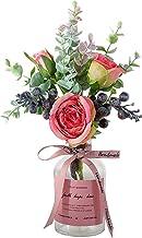 Kunstbloemen met Vaas, Rozenboeket nepbloemen voor Thuis Bruiloft Feest Festival Decoratie