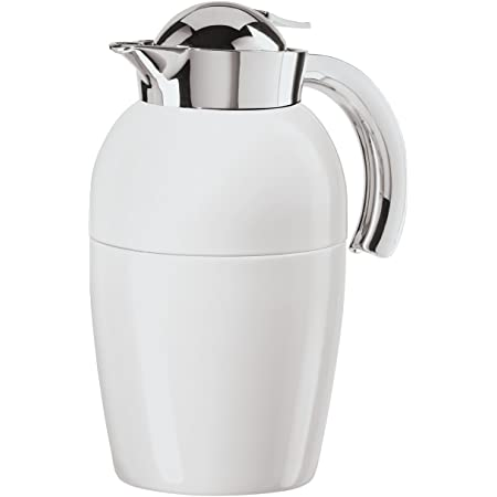 Oggi Fusion Stainless Steel Vacuum Carafe Press Button Top Removable Tea-infuser