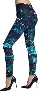 Women's Printed Leggings Full-Length Regular Size Workout...