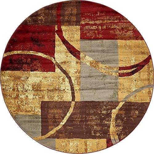 Modern Contemporary All Décor Floor Rugs Multi 8' x 8' Camden Area Rug Living Room Bedroom Carpet