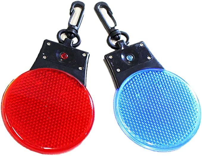 Amazon Com 2 Led Flashing Round Reflector Light With Lanyard Hook Color May Vary Pack Of 2 Pcs Home Improvement