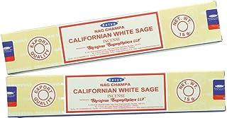 Nag Champa Californian White Sage Incense Sticks   Signature Fragrance   Set of 2 15gm Each