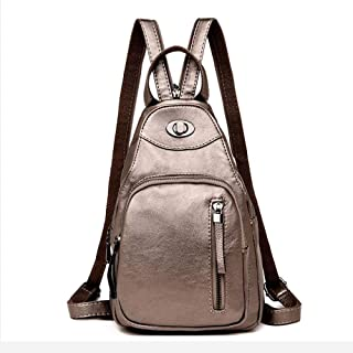 Yuan Ou Damen Rucksack Damen Mode Rucksäcke Schulter Schultaschen für Teenager PU Leder Rucksack weiblich Rucksack