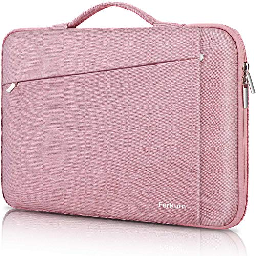Ferkurn 11 11.6 12 Inch Laptop Sleeve Chromebook Case Carrying Bag with Handle Compatible with MacBook Air 11, Surface Pro X 2017/Pro 7 6 5 4, iPad Pro, Chromebook 3100, Acer, 13' New MacBook, Pink