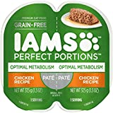 IAMS Perfect Portions Healthy Adult Grain Free Wet Cat Food, Pate (24 Twin Packs), Optimal...