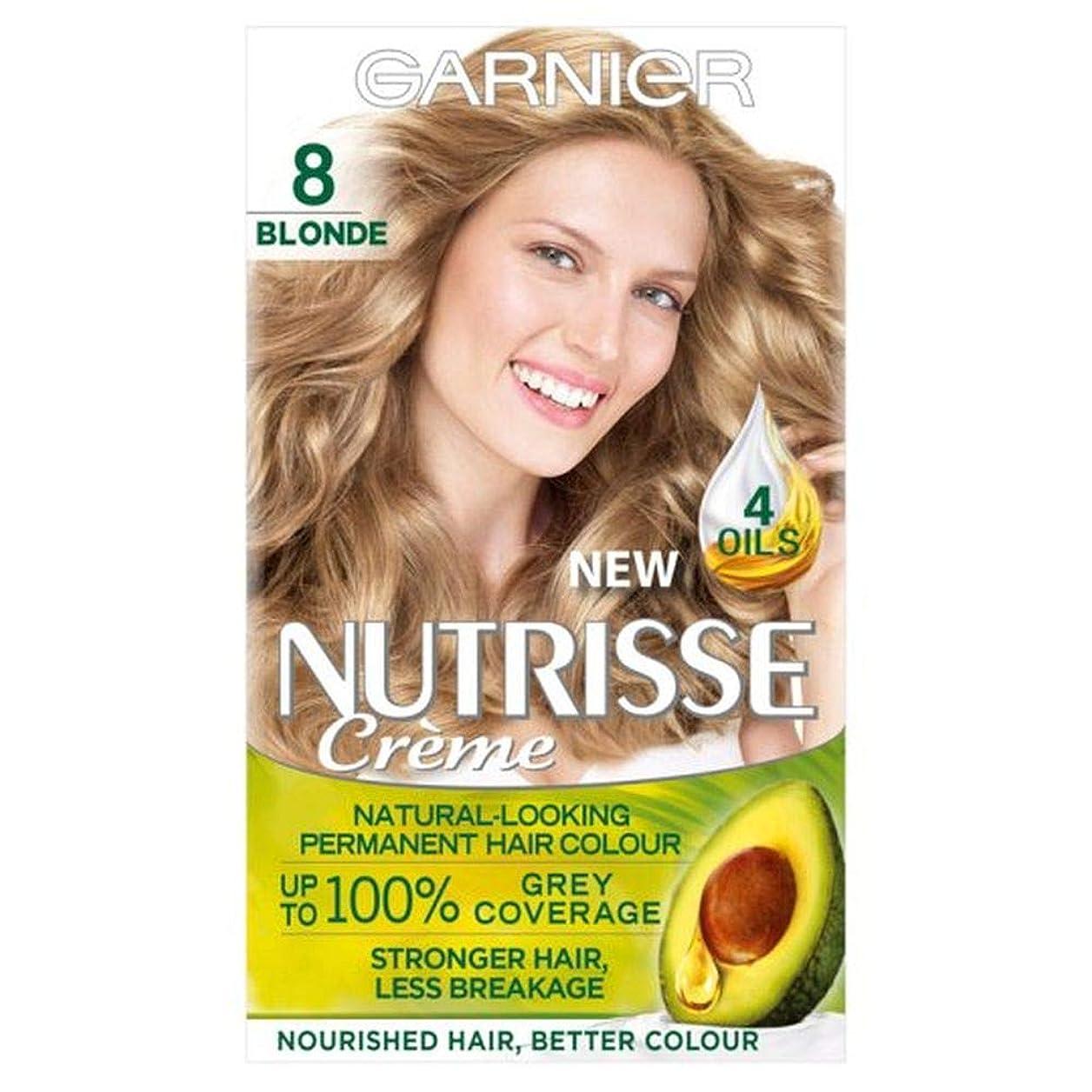 前書き船上知性[Nutrisse] 8ブロンドの永久染毛剤Nutrisseガルニエ - Garnier Nutrisse 8 Blonde Permanent Hair Dye [並行輸入品]