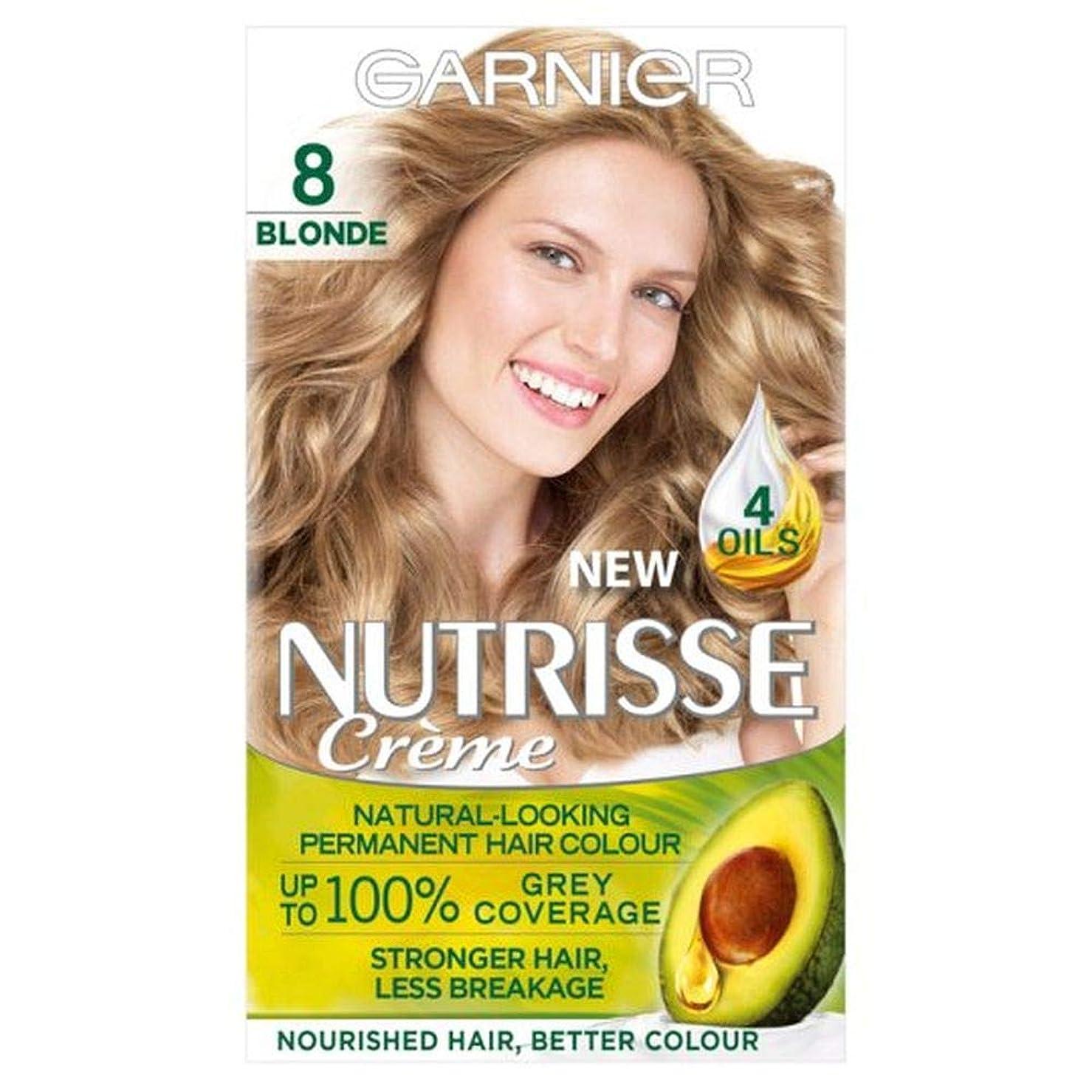 系譜望み病[Nutrisse] 8ブロンドの永久染毛剤Nutrisseガルニエ - Garnier Nutrisse 8 Blonde Permanent Hair Dye [並行輸入品]