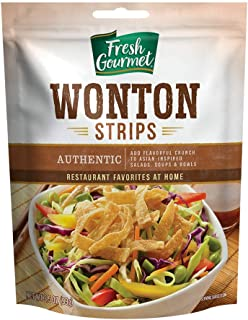 Fresh Gourmet Authentic Wonton Strips,(2- 3.5 oz Bags)
