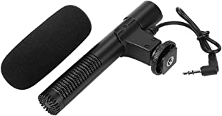 BOLORAMO Microphone à condensateur très Sensible, matériau ABS, Mono directivité, pour enregistreurs Audio