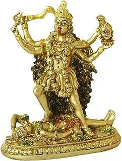 Antique Hindu God Kali Statue - Indian Idol Murti Pooja Buddha Figurine Home Temple Mandir Decor Religion Puja Decoration ...