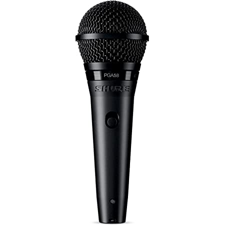 SHURE ダイナミック ボーカルマイクロフォン XLRケーブル付属 PGA58-XLR 【国内正規品】