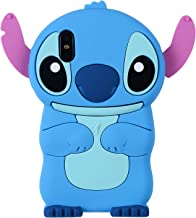 Blue Stitch Case for iPhone X/iPhone Xs 5.8 inch,3D Cartoon Animal Cute Soft Silicone Rubber Protective Cover,Kawaii Animated Stylish Fashion Cool Skin Shell for Kids Child Teens Girls(iPhoneXS/X)