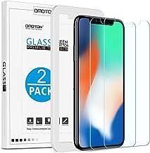 [Lot de 2 ] Verre Trempé pour iPhone X/XS Protection Ecran [Kit Installation Offert] OMOTON Film Protecteur iPhone X 2017/2018,[ 5.8 Pouces, 9H Dureté, Sans Bulles]