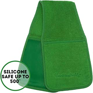 by CAMPANELLI Cooking Buddy Professional Grade All-in-One Pot Holder, Hand Towel, Lid Grip, Tool Caddy, and Trivet. Heat Resistant up to 500ºF! As Seen On QVC. (Kelly Green)