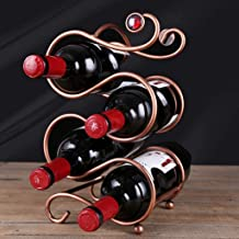 HTTJJ Ply Stackable, high-Quality Metal Wine Rack with Bottles of Wine Rack on The countertop - Freestanding - Suitable fo...