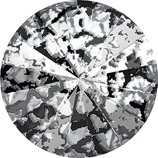 1122 Swarovski Chatons & Round Stones Rivoli Crystal Black Patina | SS39 (8.3mm) - Pack of 10 | Small & Wholesale Packs