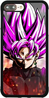 Dragon Ball Z Super Saiyan Rose Black Goku Case for iPhone 7 Plus / 8 Plus (5.5 Inch) Comic TPU Silicone Gel Rubber Edge + PC Bumper Case Skin Protective Phone Protector Full Protection Cover